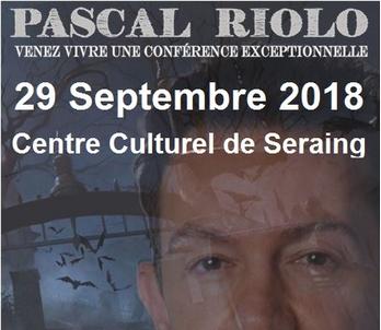 Conférence ce 29 Septembre 2018.